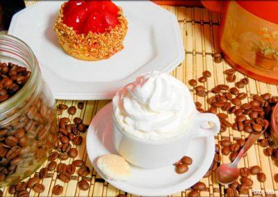 Café expresso com chantilly